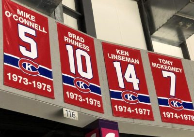 Retired Number Banners at Leon Centre