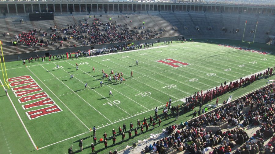 Game Action From the Roof of Harvard Stadium