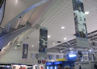 Clune Arena Banners Honoring Former Falcon Athletes
