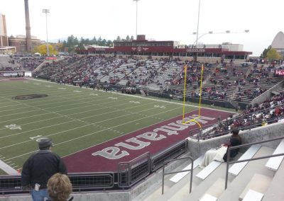Washington-Grizzly Stadium, a look at the end zone