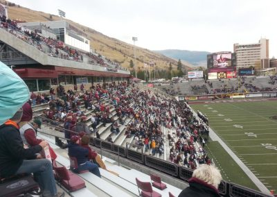 Washington-Grizzly Stadium, pressbox and grandstand