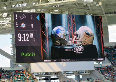 Video Boards in All Four Corners