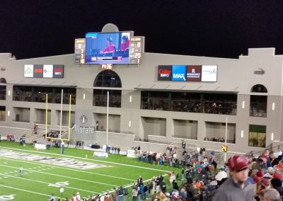 Cramton Bowl End Zone during the Camellia Bowl