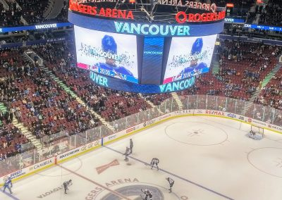 Faceoff at Rogers Arena