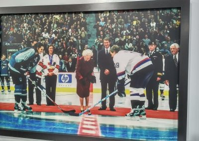 The Queen Drops the Puck