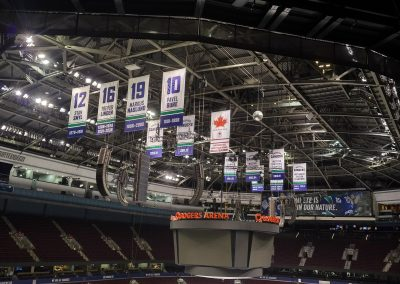 Banners Hang at Rogers Arena
