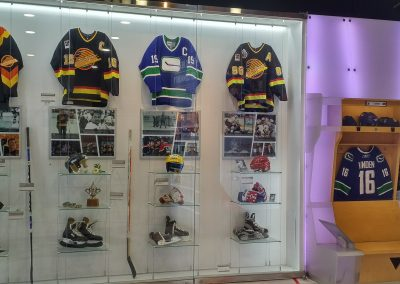 Canucks Legends Display at Rogers Arena