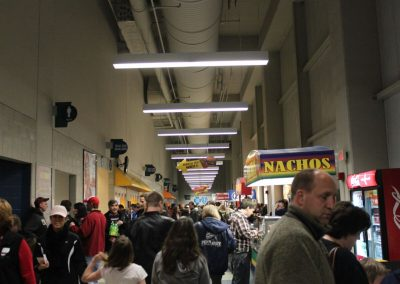 Crowded Concourse at Mohegan Sun Arena