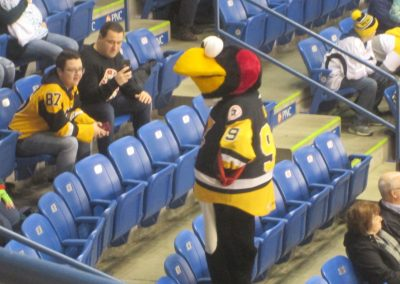 Tux Entertains Fans at Mohegan Sun Arena