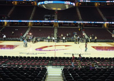 Quicken Loans Arena, a view of the court