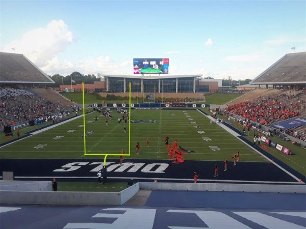Rice Stadium, View from the End Zone