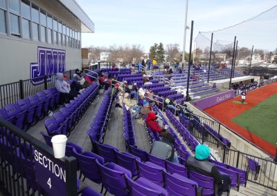 Eagle Field at Veterans Memorial Park, James Madison Dukes Fans Looking on