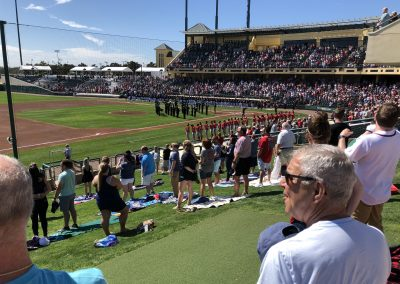 Champion Stadium - National Anthem from the Lawn