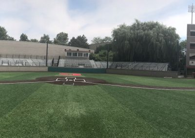Panoramic view from the pitcher's mound at Hoy Field