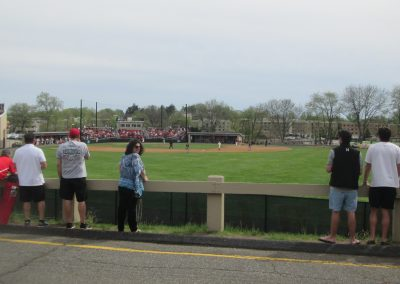 Fans in the Outfield at Alumni Diamond