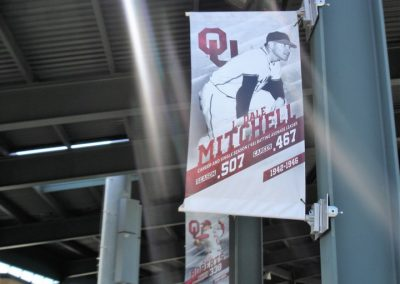 L Dale Mitchell Park, Former Player Banners