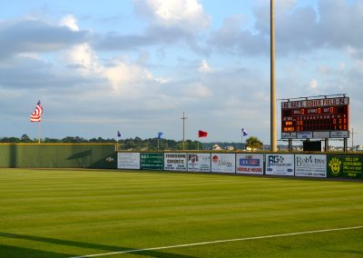 Ray E Didier Field - Scoreboard and Outfield
