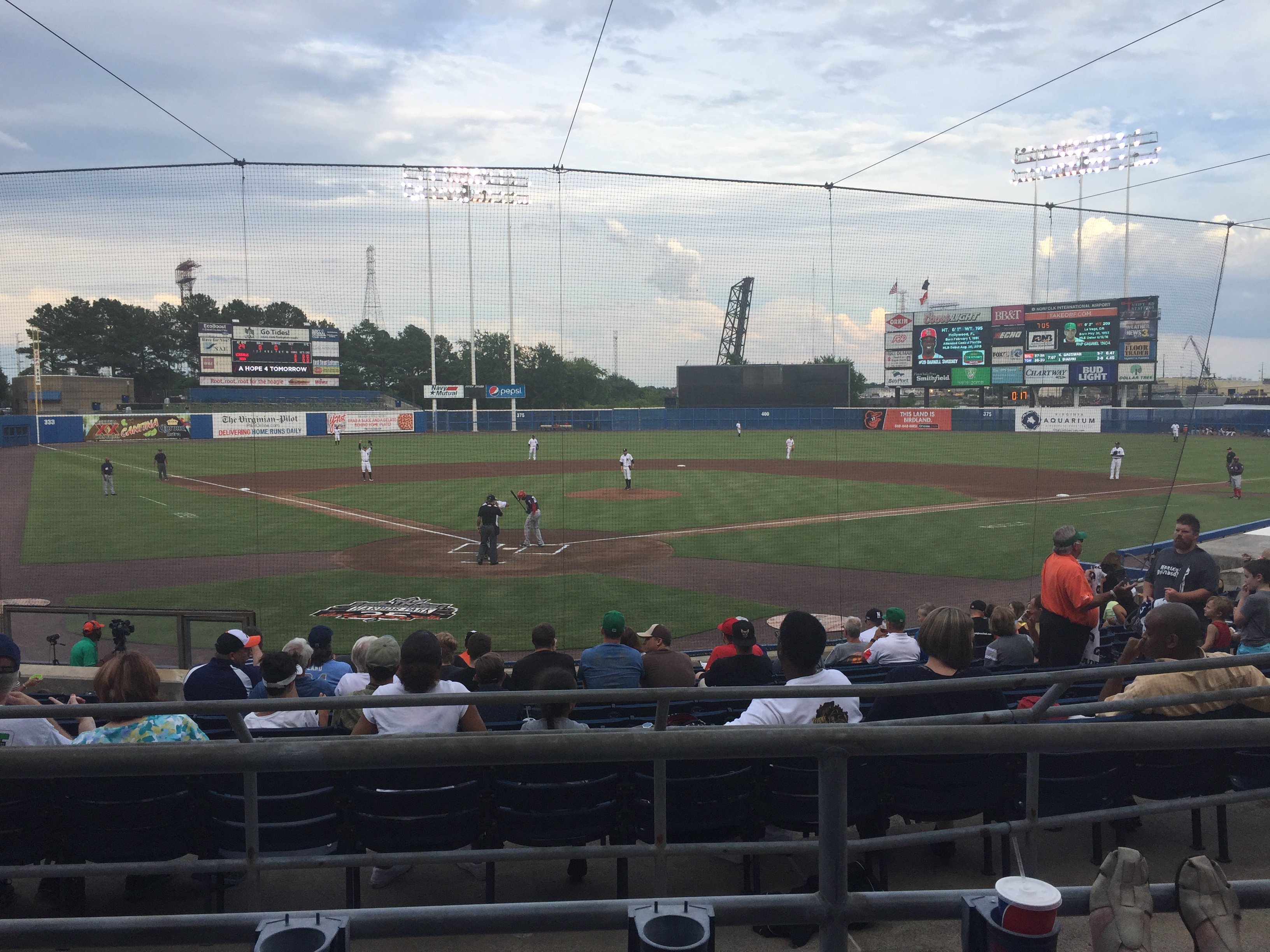Harbor park norfolk tides stadium journey field view from behind home nvjuhfo Image collections