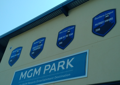 Banners at MGM Park