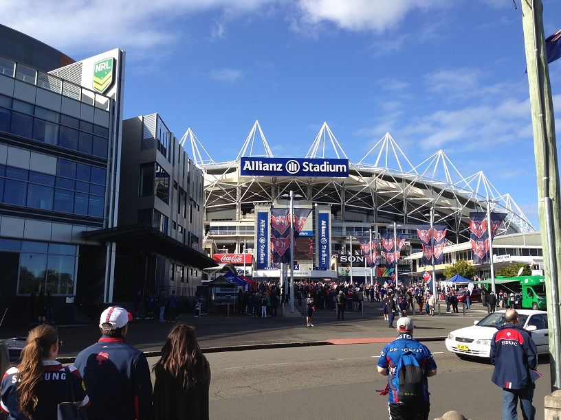 Sydney Roosters Fans Entering Allianz Stadium