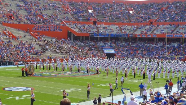 Florida Marching Band at Ben Hill Griffin Stadium