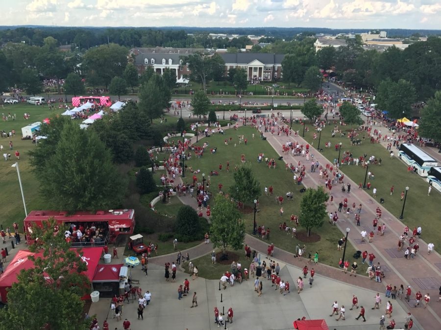 Bryant-Denny Stadium, Aerial View of the Walk of Champions