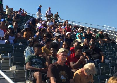 D. B. Milne Field, Jacksonville Dolphins Fans Looking on