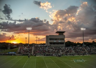 Sunset over Spec Martin Memorial Stadium