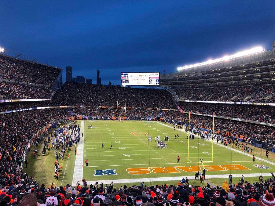 Soldier Field End Zone View
