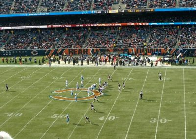 Soldier Field Fifty Yard Line Action