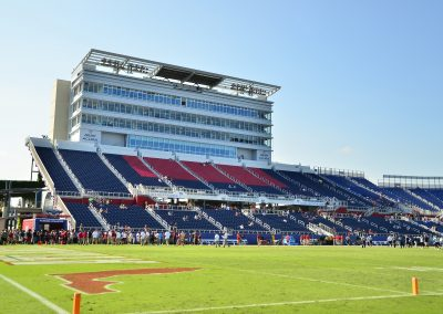 Grandstand and Press Box at FAU Stadium