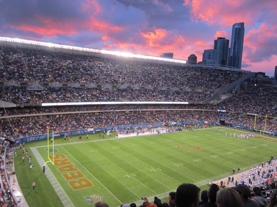 Soldier Field Sunset