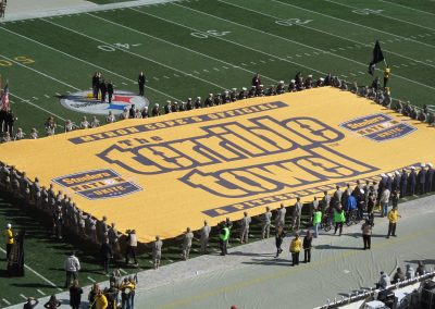 Giant Terrible Towel During Pregame at Heinz Field