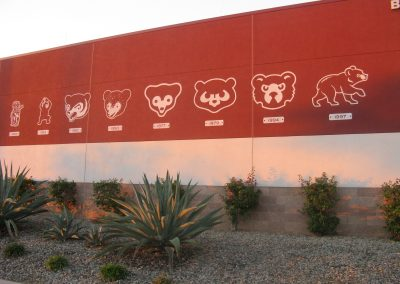 Sloan Park - Chicago Cubs Logos Throughout the Years