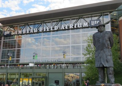 Lombardi Guards the Entrance to Lambeau