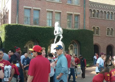Protecting the Trojan statue during rivalry week