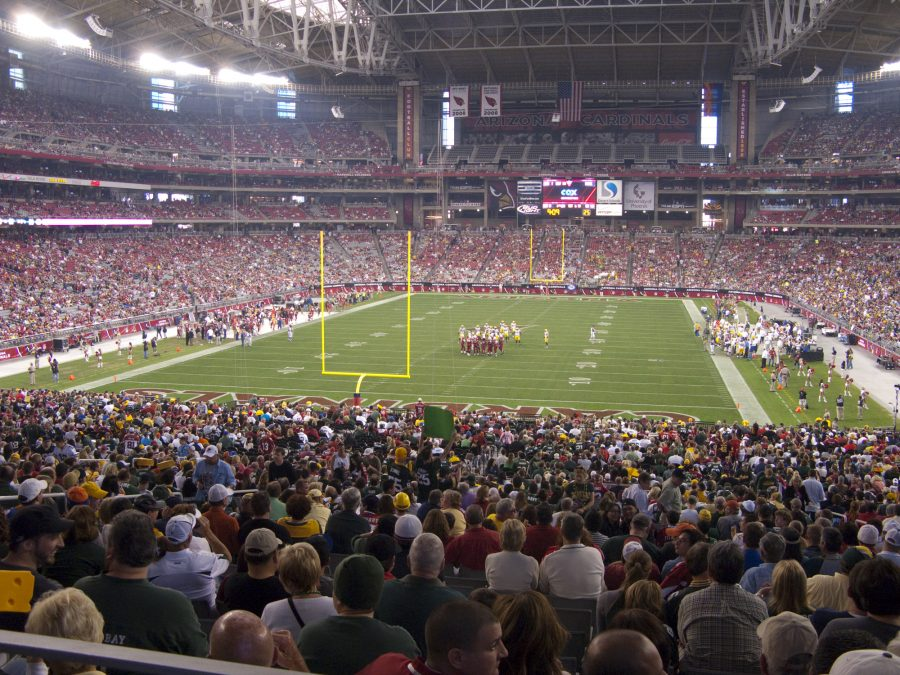 University of Phoenix Stadium End Zone View, Home of the Fiesta Bowl