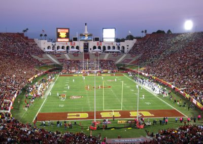 End Zone View at Los Angeles Memorial Coliseum