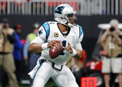 Cam Newton Throws from the Pocket