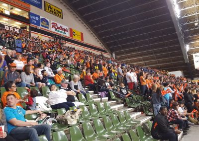 Holt Arena, Idaho State Bengals fans look on