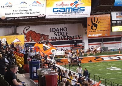 Holt Arena, Idaho State Bengals prepare to come onto the field