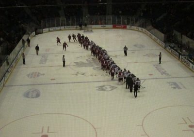 Postgame Handshakes at XL Center