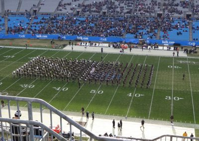 Belk Bowl at Bank of America Stadium, Bands Performing