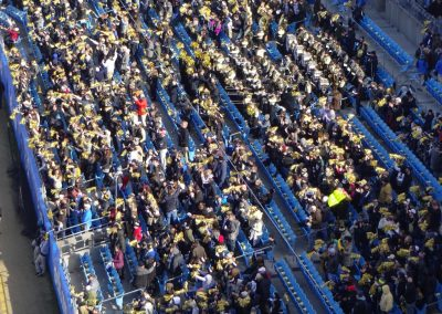 Belk Bowl at Bank of America Stadium, Fans Celebrate a TD