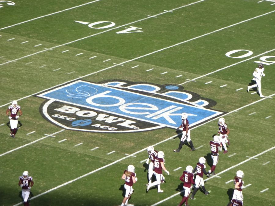 Bank of America Stadium, Belk Bowl Logo at Midfield