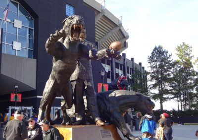 Belk Bowl at Bank of America Stadium, Panther Statues Outside