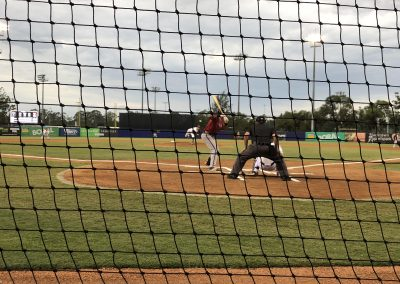 Behind Home Plate at Blue Sox Stadium