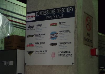 Concessions at Nissan Stadium during the Music City Bowl