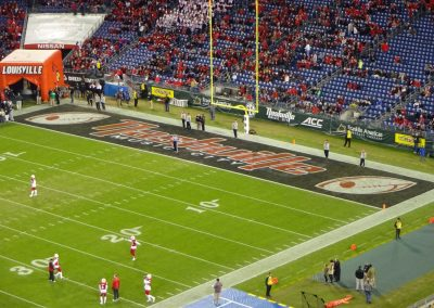 End Zone at Nissan Stadium during the Music City Bowl