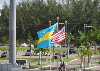 Flags Flying above Thomas A. Robinson Stadium during the Bahamas Bowl